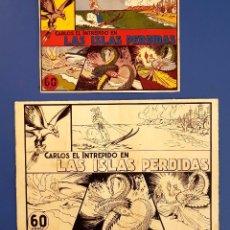 Cómics: ORIGINAL Y PRUEBA DE COLOR DEL NÚMERO 1 DE CARLOS EL INTRÉPIDO DE HISPANO AMERICANA (1942). Lote 109409603