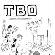 Cómics: PORTADA TBO EXTRA DEDICADO A LA TV (1969) JOAQUIM MUNTAÑOLA. Lote 110057891