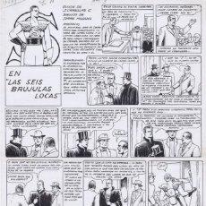 Cómics: ¡¡¡REBAJADO!!! ORIGINAL DE SERRA MASSANA S LAS 6 BRÚJULAS LOCAS. Lote 110081571
