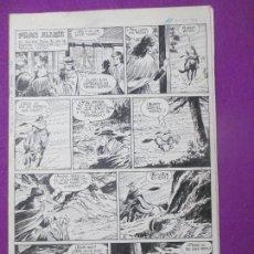 Cómics: DIBUJO ORIGINAL PLUMILLA, FRAN ALLEN, 1968, JAIMITO EXTRA VERANO 1968, GUERRERO, 4 HOJAS, OR11. Lote 110153427