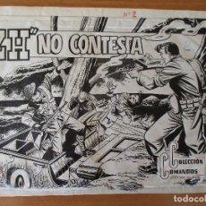 Cómics: COLECCION COMANDOS Nº 2, COMPLETO: PORTADA + 10 PÁGINAS. PLANCHAS ORIGINALES.. Lote 110280327