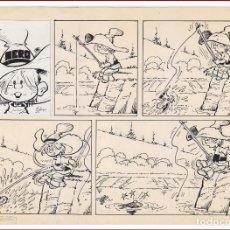 Cómics: DIBUJO ORIGINAL DE JORDI BUXADÉ DE SU PERSONAJE INTERNACIONAL NERO DEL AÑO 1972.. Lote 110452387
