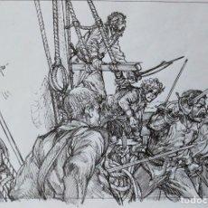 Cómics: DIBUJO ORIGINAL CAPITAN ALATRISTE DE JOAN MUNDET. Lote 110828859
