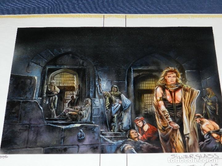 (LR) DIBUJO ORIGINAL DE LUIS ROYO - SILVERGLASS , DIBUJO A COLOR , 36'5 X 25'5 CM, BUEN ESTADO (Tebeos y Comics - Art Comic)