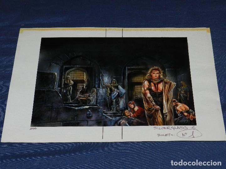 Cómics: (LR) DIBUJO ORIGINAL DE LUIS ROYO - SILVERGLASS , DIBUJO A COLOR , 36'5 X 25'5 CM, BUEN ESTADO - Foto 10 - 110903799