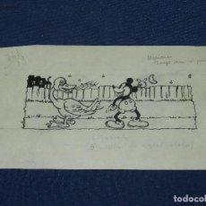 Cómics: (M) DIBUJO ORIGINAL DE MICKEY MOUSE - 20 X 11'5 CM, SEÑALES DE USO NORMALES. Lote 111096583