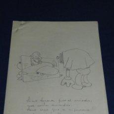 Cómics: (UR3) CUADERNILLO ORIGINAL DE MANUEL URDA , 5PAG DIBUJO A LAPIZ SIN FIRMAR ,27'5 X 22 CM,BUEN ESTADO. Lote 111327251
