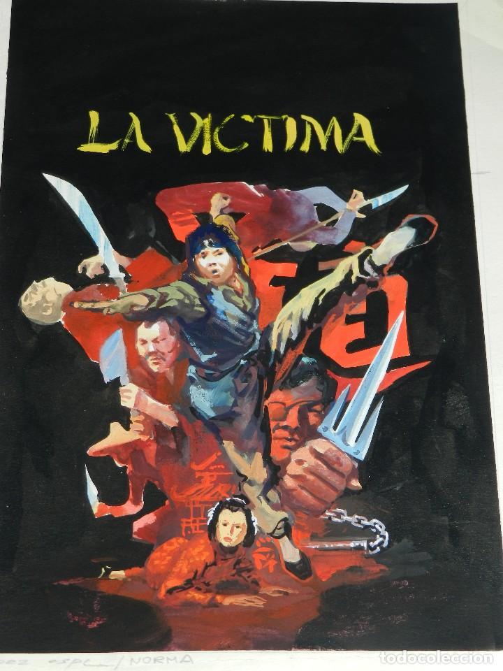 (LE1) PORTADA ORIGINAL A COLOR DE LOPEZ ESPI - PUBLICADA EN NORMA , 36'5 X 25'5 CM, (Tebeos y Comics - Art Comic)