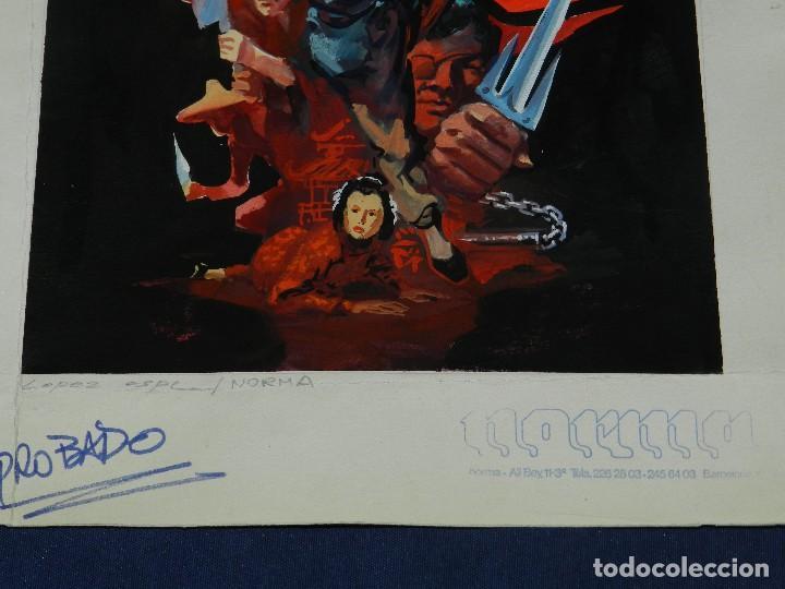 Cómics: (LE1) PORTADA ORIGINAL A COLOR DE LOPEZ ESPI - PUBLICADA EN NORMA , 36'5 X 25'5 CM, - Foto 3 - 111329599