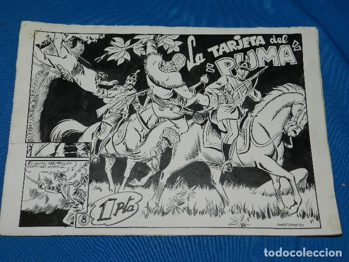 (PU1) CUADERNILLO ORIGINAL EL PUMA NUM 8 - MARTINEZ OSETE - PORTADA Y 10 PAG (Tebeos y Comics - Art Comic)