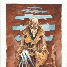 Nosferatu de Murnau acuarela original de Alfonso Azpiri