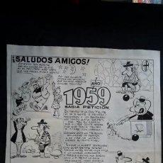 Cómics: DIBUJO ORIGINAL FIRMA KITO. ALMANAQUE 1959. Lote 113155046