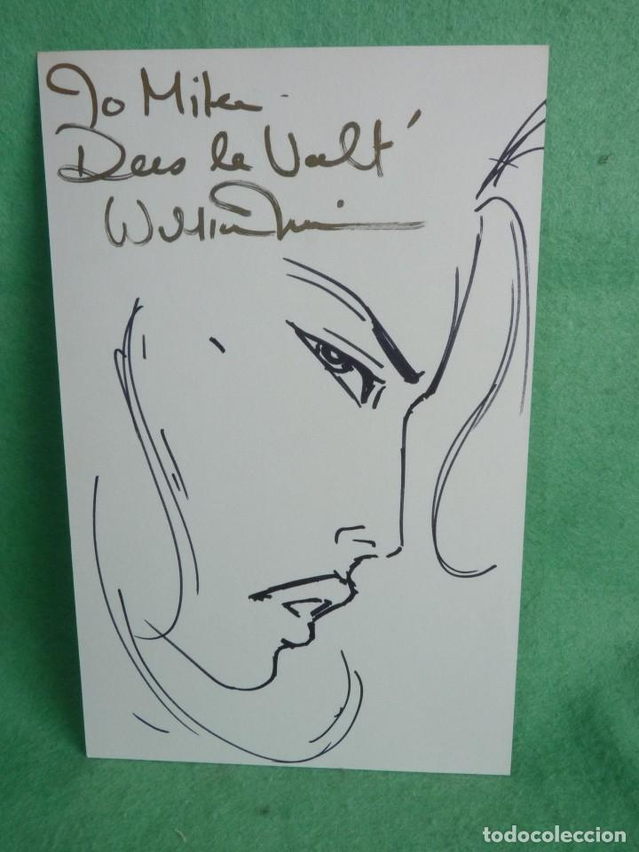 DIBUJO ORIGINAL BILLY TUCCI SHI SKETCH FIRMADO Y DEDICADO WILLIAM TUCCI 1995 RARO COLECCIÓN (Tebeos y Comics - Art Comic)