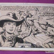 Cómics: DIBUJO ORIGINAL PLUMILLA, EL PEQUEÑO LUCHADOR, EL ENGAÑO DE LARRY SUTTON, Nº142, PORTADA Y 10 HOJAS. Lote 114179739