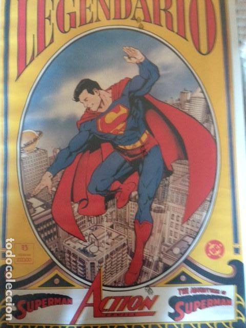 Cómics: POSTER - SUPERMAN LEGENDARIO - DIBUJO DE GEORGE PEREZ - APROX. 88,5CM X 55,5CM - ZINCO - Foto 2 - 114725819