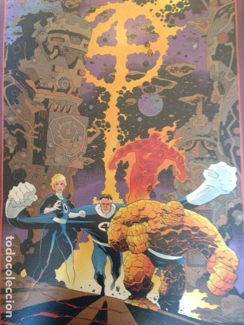 Cómics: POSTER 4F FANTASTIC FOUR DIBUJO DE MIKE MIGNOLA 86X56 CMS, 1991 MARVEL COMICS - Foto 2 - 114726891
