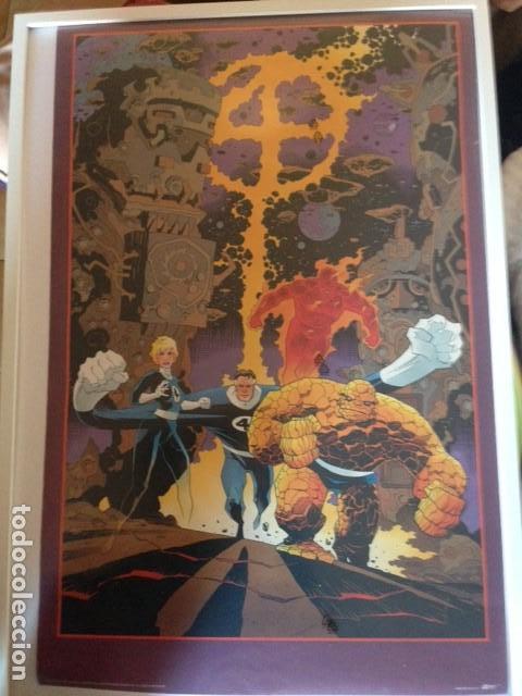 POSTER 4F FANTASTIC FOUR DIBUJO DE MIKE MIGNOLA 86X56 CMS, 1991 MARVEL COMICS (Tebeos y Comics - Art Comic)