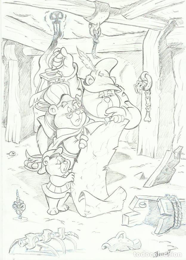 DIBUJO ORIGINAL OSOS GUMMI (Tebeos y Comics - Comics - Art Comic)