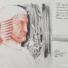 Cómics: STARGATE. DIBUJO ORIGINAL DE HOLGER GROSS PARA DISEÑO DE PERSONAJES Y PRODUCCIÓN DE LA PELICULA. Lote 115685163