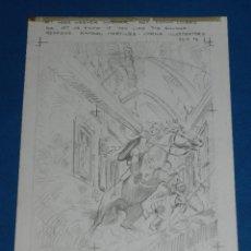 Cómics: (LP2) DIBUJO ORIGINAL DE LOPEZ ESPI A LAPIZ , GEISTER DER VERGANGEHEIT , EDT NORMA. Lote 116453059