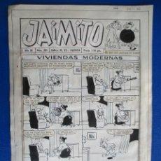Cómics: JAIMITO, PORTADA DEL Nº 331, 26 DIC 1955. PLANCHA ORIGINAL.. Lote 116904583