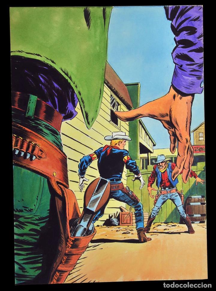 LOPEZ ESPI - PORTADA DE KID COLT & LATIGO KID #11 (Tebeos y Comics - Art Comic)