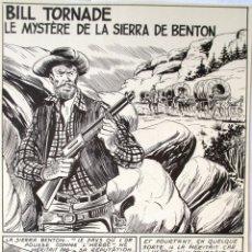 Comics: PAGINA ORIGINAL DE BILL TORNADE 1960S (AUTOR ALAN DOYER / JOSÉ ESPINOSA SERRANO). Lote 118425211