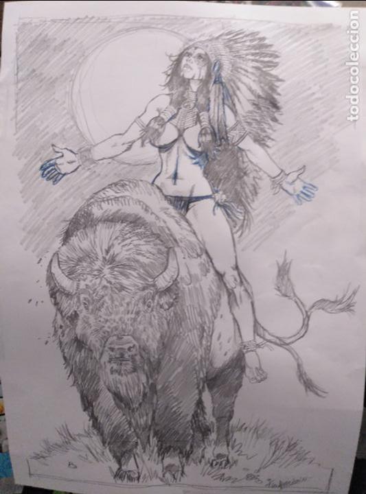 SACRED SPIRIT 2 - PREVIO - ORIGINAL FIRMADO. A3 (Tebeos y Comics - Art Comic)