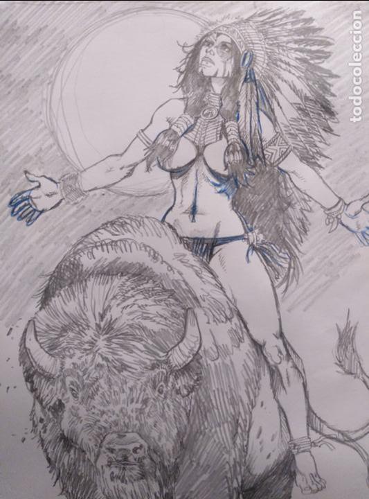 Cómics: SACRED SPIRIT 2 - previo - Original firmado. A3 - Foto 2 - 118917843