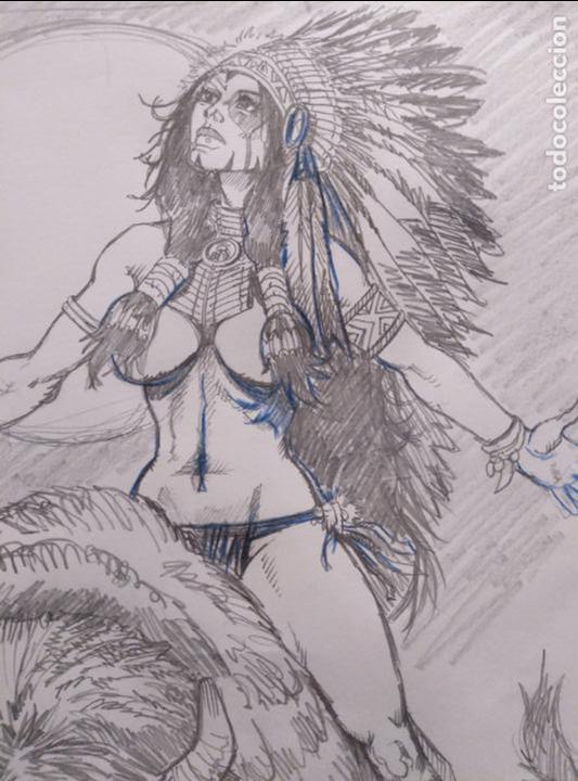 Cómics: SACRED SPIRIT 2 - previo - Original firmado. A3 - Foto 3 - 118917843