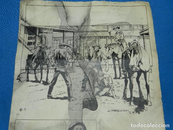 Cómics: (LE1) DIBUJO ORIGINAL DE LOPEZ ESPI - 33 X 24 CM, EL DIBUJO TIENE MANCHAS , SEÑALES DE USO - Foto 2 - 119073807