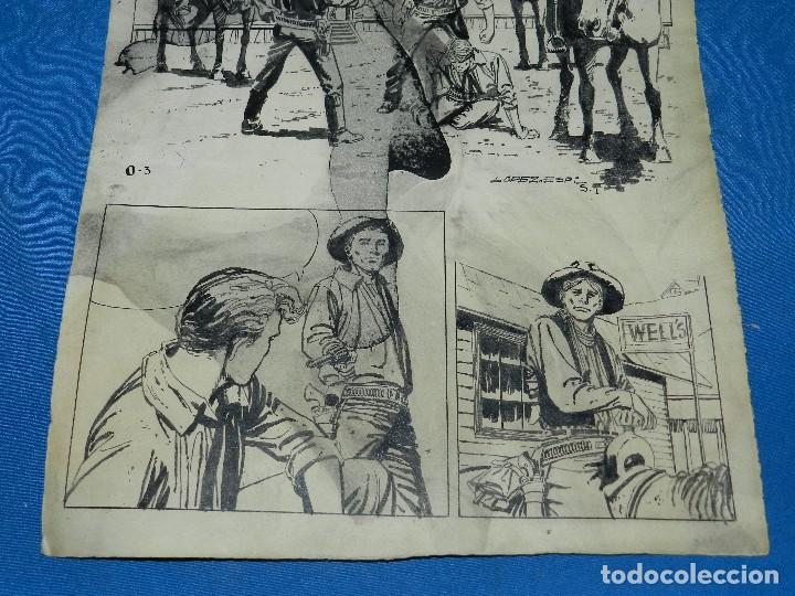 Cómics: (LE1) DIBUJO ORIGINAL DE LOPEZ ESPI - 33 X 24 CM, EL DIBUJO TIENE MANCHAS , SEÑALES DE USO - Foto 4 - 119073807