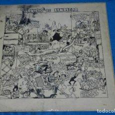 Cómics: (JR18) PORTADA ORIGINAL DE LA RISA NUM 21 - DIBUJO DE J RIZO , SERVICIO DE LIMPIEZA , 34 X 35 CM. Lote 120438115
