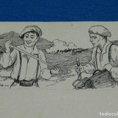 Cómics: DIBUJO DE A UTRILLO - BATALLA DE VICTORIA , 25 X 14 CM, BUEN ESTADO. Lote 121050019