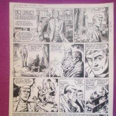 Cómics: DIBUJO ORIGINAL PLUMILLA, UN BUEN HALLAZGO, 1972, 4 HOJAS, OR30. Lote 121882583
