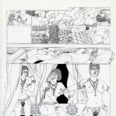 Cómics: GERARDO AMECHAZURRA. PÁGINA ORIGINAL DE COMIC. 1975. PLUMILLA FINA. FIRMADO. Lote 122087623