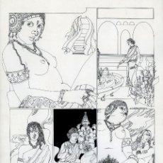 Cómics: GERARDO AMECHAZURRA. PÁGINA ORIGINAL DE COMIC. 1975. PLUMILLA FINA. FIRMADO. Lote 122087727