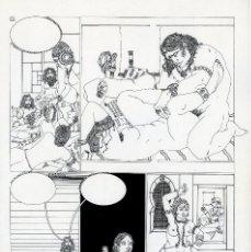 Cómics: GERARDO AMECHAZURRA. PÁGINA ORIGINAL DE COMIC. 1975. PLUMILLA FINA. FIRMADO. Lote 122087779