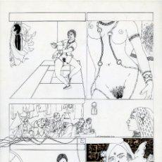 Cómics: GERARDO AMECHAZURRA. PÁGINA ORIGINAL DE COMIC. 1975. PLUMILLA FINA. FIRMADO. Lote 122087863