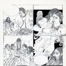 Cómics: GERARDO AMECHAZURRA. PÁGINA ORIGINAL DE COMIC. 1975. PLUMILLA FINA. FIRMADO. Lote 122087951
