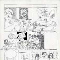 Cómics: GERARDO AMECHAZURRA. PÁGINA ORIGINAL DE COMIC. 1975. PLUMILLA FINA. FIRMADO. Lote 122088243