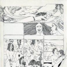 Cómics: GERARDO AMECHAZURRA. PÁGINA ORIGINAL DE COMIC. 1975. PLUMILLA FINA. FIRMADO. Lote 122088507