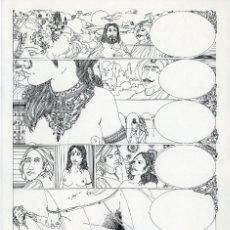 Cómics: GERARDO AMECHAZURRA. PÁGINA ORIGINAL DE COMIC. 1975. PLUMILLA FINA. FIRMADO. Lote 122088823