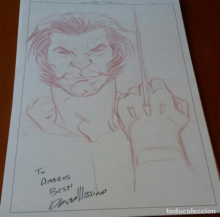 RESERVADO. NO COMPRAR. BOCETO ORIGINAL LOBEZNO - WOLVERINE - DAVID MESSINA (Tebeos y Comics - Art Comic)