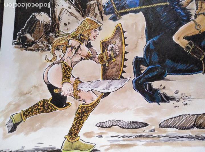 Cómics: AL ATAQUE! - Dibujo Original, firmado. 42 x 29,5 Cm. - Foto 5 - 124760583