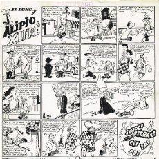 Cómics: MARTINEZ OSETE. PLANCHA ORIGINAL 39 X 28 CTMS. PUBLICADA AÑOS 1950S. Lote 126033255