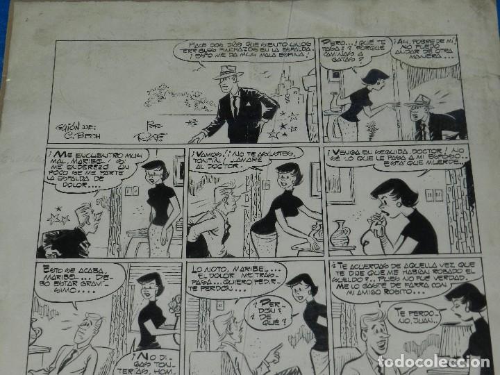 (RF1) DIBUJO ORIGINAL DE RAF - EDT MARCO , 47 X 34'5 CM, SEÑALES DE USO (Tebeos y Comics - Art Comic)