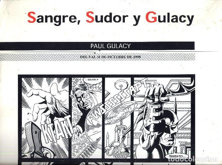 SALON COMIC DEL PRINCIPADO DE ASTURIAS CARTEL EXPOSICION PAUL GULACY TAMAÑO DIN A2 (Tebeos y Comics - Art Comic)