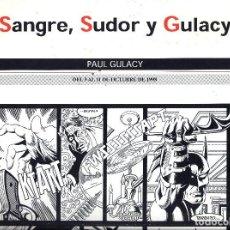 Cómics: SALON COMIC DEL PRINCIPADO DE ASTURIAS CARTEL EXPOSICION PAUL GULACY TAMAÑO DIN A2 . Lote 126877863