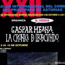 Cómics: SALON COMIC DEL PRINCIPADO DE ASTURIAS CARTEL EXPOSICION GASPAR MEANA TAMAÑO DIN A2 . Lote 126878035